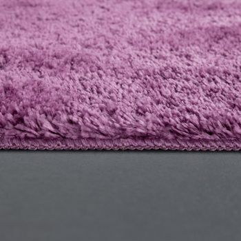 Modern Bathroom Carpet One Colour Microfibre Cuddly Cosy In Purple – Bild 2
