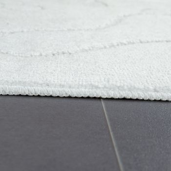 Modern Bathroom Rug Non-Slip Bathmat Footprint One Colour In White – Bild 2