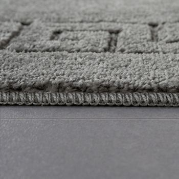 Modern Bathroom Rug Border Bathmat Non-Slip Bathroom Mat In Grey – Bild 2