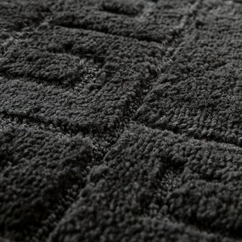 Modern Bathroom Rug Border Bathmat Non-Slip Bathroom Mat In Black – Bild 3