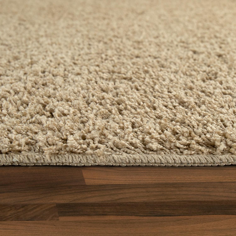 Hochflor teppich waschbar einfarbig beige hochflor teppiche - Teppich waschbar ...