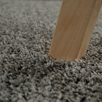 Deep Pile Living Room Rug Washable Shaggy Non-Slip One Colour In Grey – Bild 3
