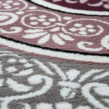 Elegant Designer Rug With Oriental Pattern Ornamental Mandala Grey Purple White – Bild 3