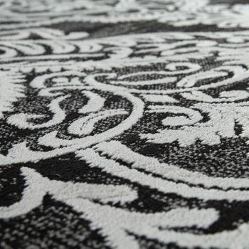 Designer Rug Modern Oriental Pattern 3D Living Room Rug Anthracite Grey White – Bild 3
