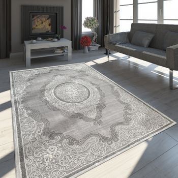 Oriental Rug Baroque Grey