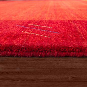 Rug Hand-Woven Gabbeh Quality 100% Wool Border Mottled In Orange – Bild 2