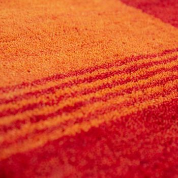 Rug Hand-Woven Gabbeh Quality 100% Wool Border Mottled In Orange Yellow – Bild 3
