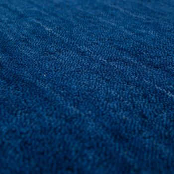 Rug Hand-Knotted Gabbeh High Quality 100% Cotton Subtle Mottled In Plain Blue – Bild 2