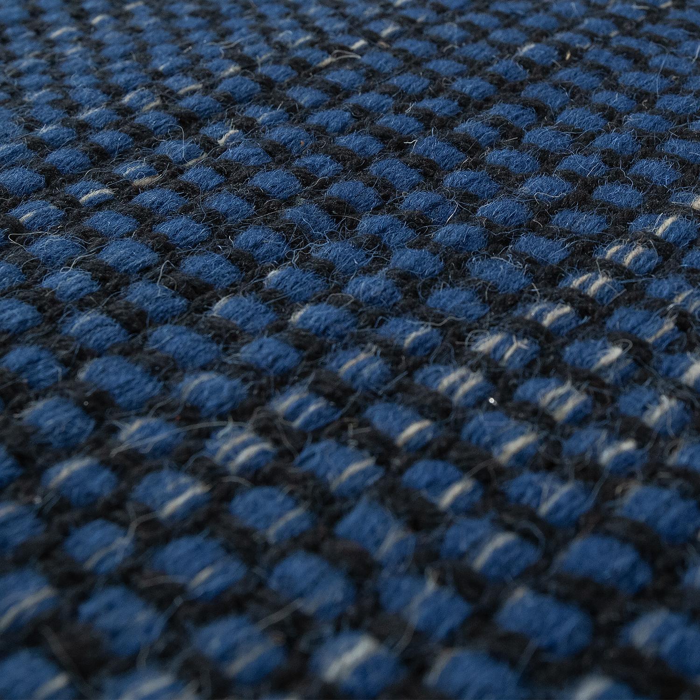 Hand Woven Flat Weave Rug Scandi Look Blue Rug24