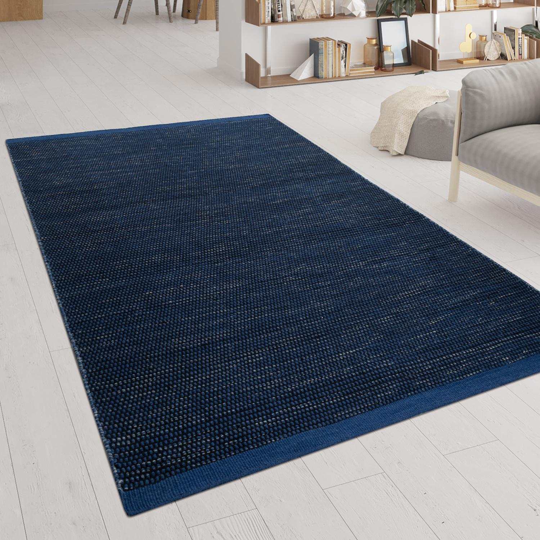 Alfombra tejido hecho a mano look escandinavo patr n jaspeado en azul alfombras alfombras de - Alfombras de fibra ...