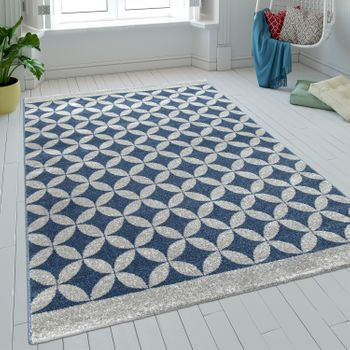 Rug Circles Batik Blue Short Pile