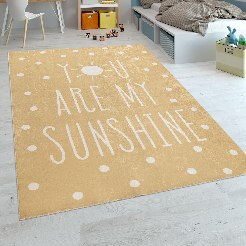 tapis chambre enfant tapis b b lavable inscription pois moderne jaune blanc tapis enfants. Black Bedroom Furniture Sets. Home Design Ideas