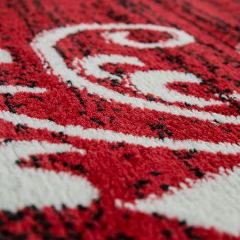 Teppich Wohnzimmer Modern Kurzflor Mehrfarbig Muster Floral Ornament Rot – Bild 3