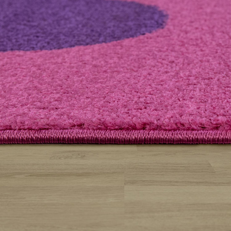 Teppich Kinderzimmer Blumen Pink Lila | TeppichCenter24