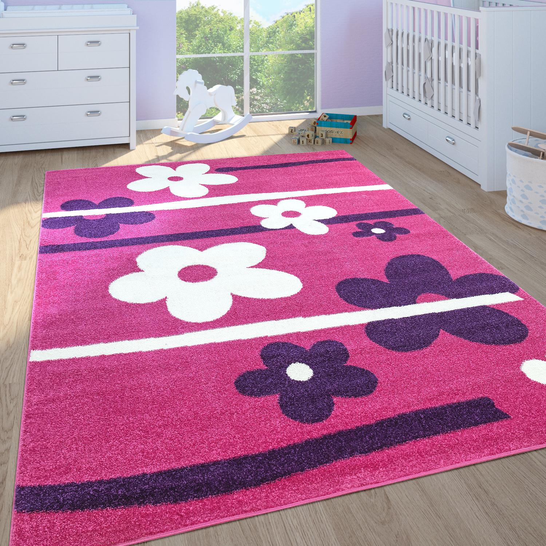 tapis chambre enfant filles fleurs rose tapis24. Black Bedroom Furniture Sets. Home Design Ideas