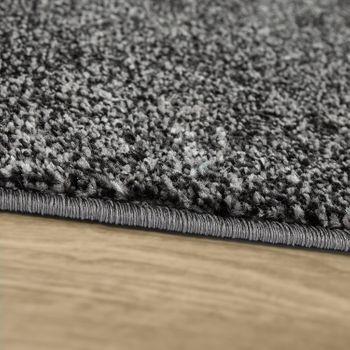Kurzflor Teppich Wohnzimmer Modern Design Mehrfarbig Geometrisch Kariert Grau – Bild 2