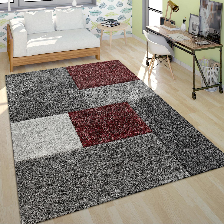 Poils Ras Tapis Salon Moderne Design Multicolore Geometrique A