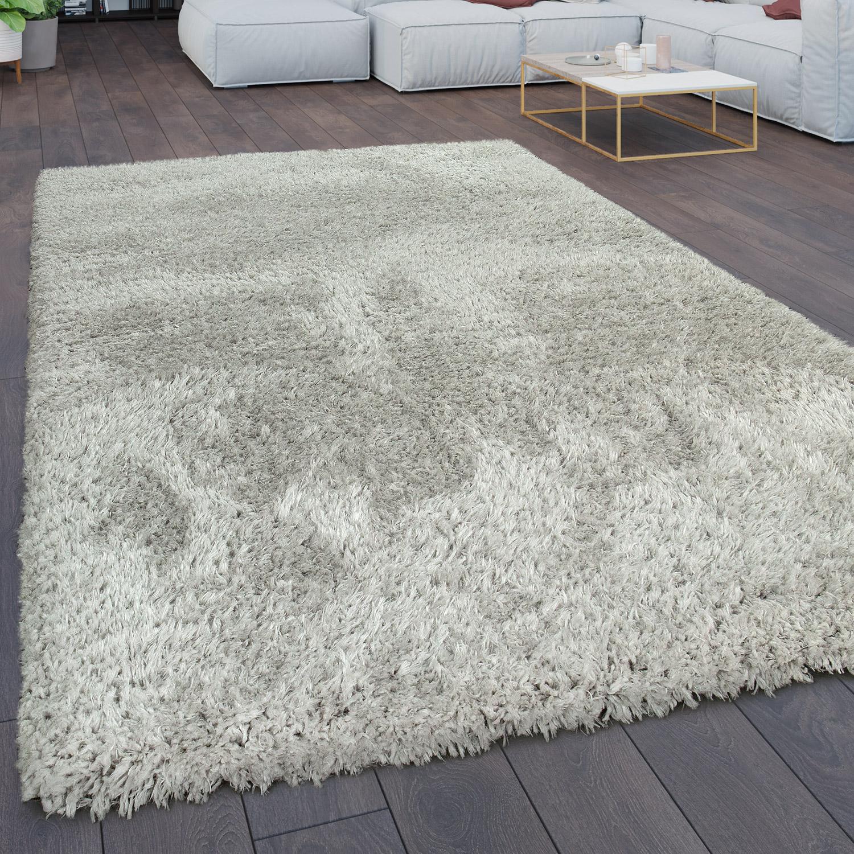 shaggy teppich flokati einfarbig grau. Black Bedroom Furniture Sets. Home Design Ideas