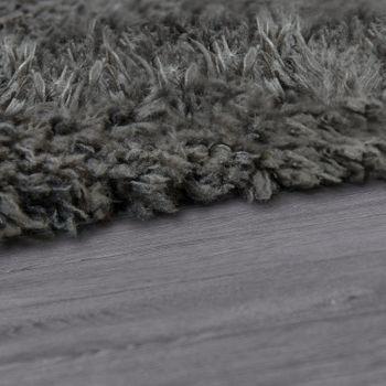 Tapis Salon Shaggy Poils Longs Flokati Moderne Uni Anthracite – Bild 2
