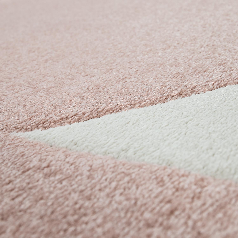 Alfombra habitaci n infantil ni a moderna gran estrella en rosa pastel y blanco alfombras infantiles - Alfombra nina ...
