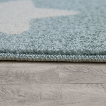 Rug Childrens Bedroom Childrens Rug Large and Small Stars in Blue Grey – Bild 3