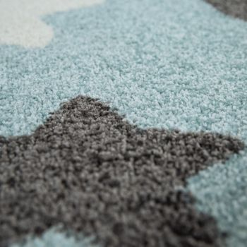 Rug Childrens Bedroom Childrens Rug Large and Small Stars in Blue Grey – Bild 2