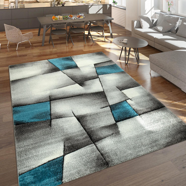 designer teppich abstrakte muster grau t rkis design teppiche. Black Bedroom Furniture Sets. Home Design Ideas