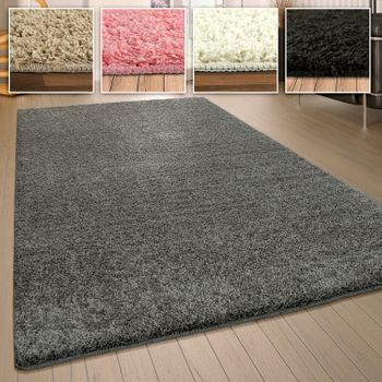 Shaggy rug Washable Slip-resistant plain colored in different colors and sizes