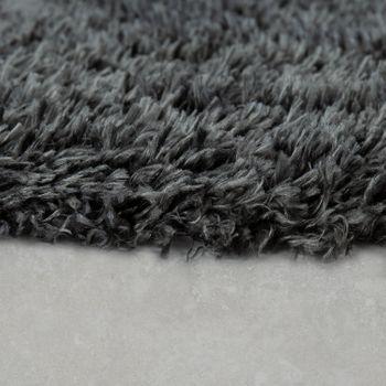 Modern Bath Mat Bathroom Rug Shaggy Snug and Soft Monochrome Grey – Bild 2