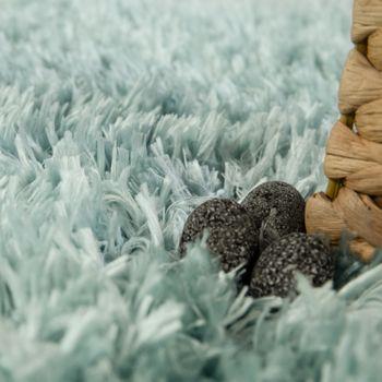 Modern Bath Mat Bathroom Rug Shaggy Snug and Soft Monochrome Turquoise – Bild 3