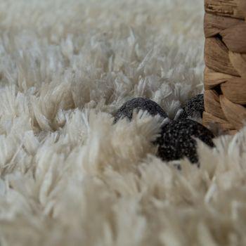 Modern Bath Mat Bathroom Rug Shaggy Snug and Soft Monochrome Beige – Bild 3