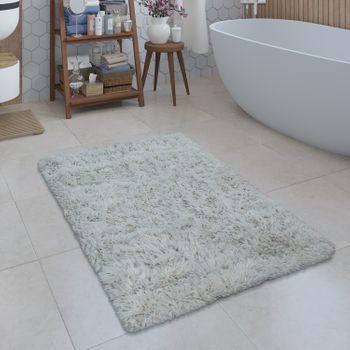 Modern Bath Mat Bathroom Rug Shaggy Snug and Soft Monochrome Cream – Bild 1