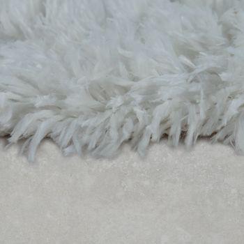 Modern Bath Mat Bathroom Rug Shaggy Snug and Soft Monochrome Cream – Bild 2