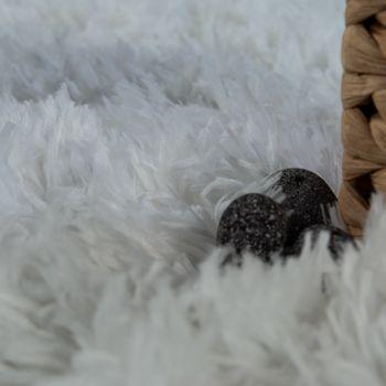 Moderne Badematte Badezimmer Teppich Shaggy Kuschelig Weich Einfarbig Creme – Bild 3