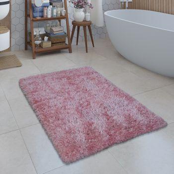 Modern Bath Mat Bathroom Rug Shaggy Snug and Soft Monochrome Pink – Bild 1