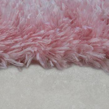 Moderne Badematte Badezimmer Teppich Shaggy Kuschelig Weich Einfarbig Pink – Bild 2