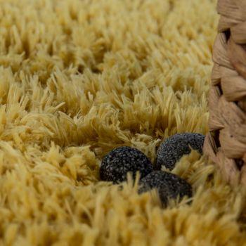 Modern Bath Mat Bathroom Rug Shaggy Snug and Soft Monochrome Yellow – Bild 3