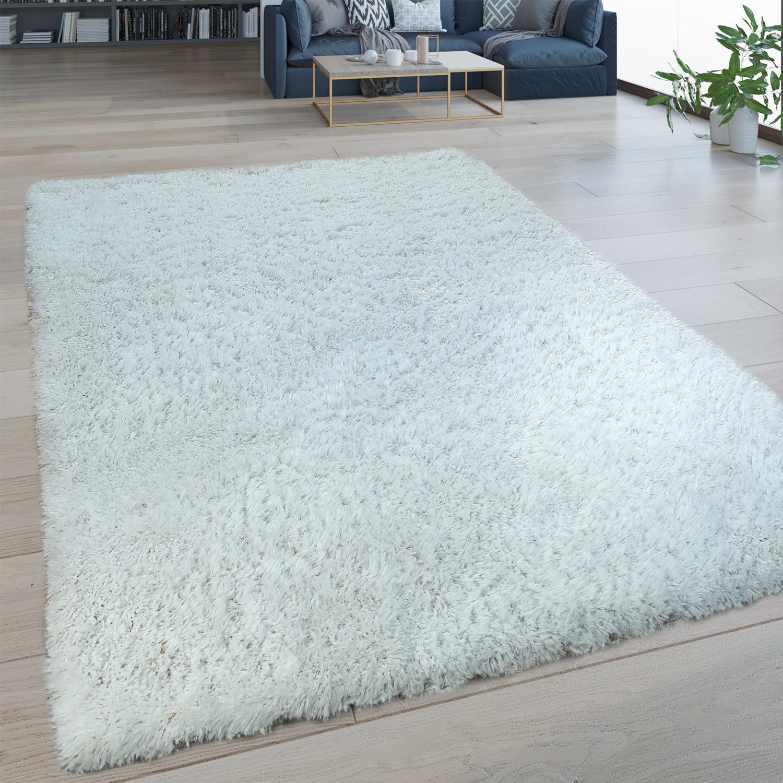 Tapis Long Poil Blanc tapis poils longs lavable uni blanc