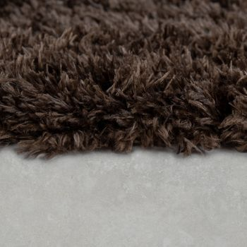 Modern Bath Mat Bathroom Rug Shaggy Snug and Soft Monochrome  Brown – Bild 2