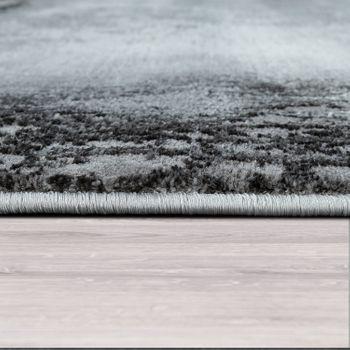 Tapis Poils Ras Salon Moderne Design Marbre Motif Abstrait Gris Blanc – Bild 2