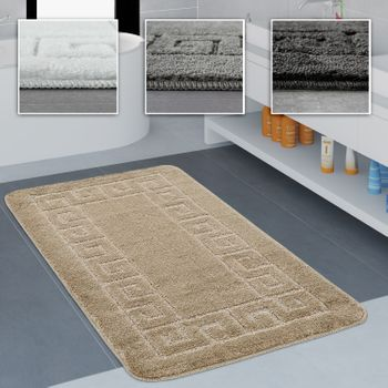 Bathroom Rug Border Various Sizes And Colours
