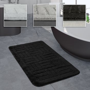 Bathroom Rug Bathmat Checked Pattern In Various Sizes And Colours – Bild 1