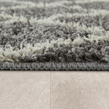 Bathmat With Diamond Design Deep-Pile Bathroom Mat In Various Sizes And Colours – Bild 12