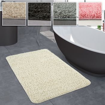Bathroom Rug One-Colour Deep-Pile Non-Slip In Various Sizes And Colours – Bild 1