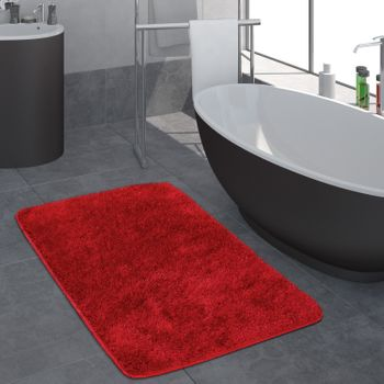 Deep-Pile Bathroom Rug One-Colour Non-Slip In Various Sizes And Colours – Bild 20