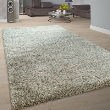 Deep-Pile Rug Shaggy One Colour Taupe