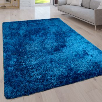 Deep Pile Living Room Rug Washable Shaggy Plain In Various Sizes And Colours – Bild 2