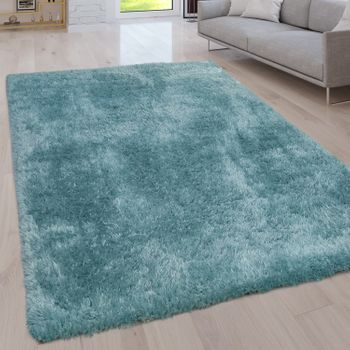 Deep Pile Living Room Rug Washable Shaggy Plain In Various Sizes And Colours – Bild 11