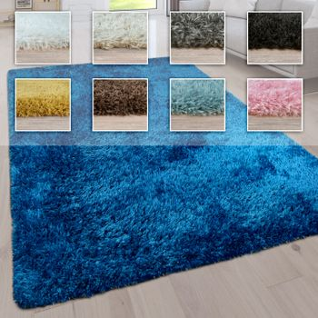 Deep Pile Living Room Rug Washable Shaggy Plain In Various Sizes And Colours – Bild 1
