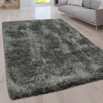 Deep Pile Living Room Rug Washable Shaggy Plain In Various Sizes And Colours – Bild 8